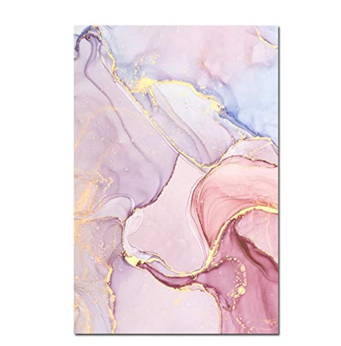 póster Art Prints Cuadro Abstracto de Acuarela, póster de mármol, Arte de Pared, Pintura en Lienzo para decoración de Sala de Estar, Carteles Modernos e Impresiones, Pinturas de pared40x60cm (16x24 i