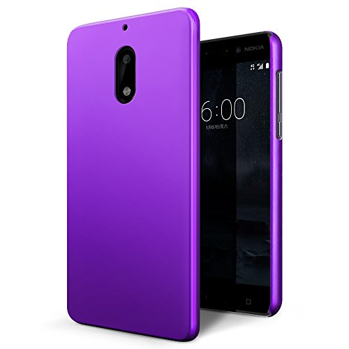 Custodia Nokia 6, SLEO Cover Nokia 6 [Protezione 360°] Thin Fit, [Cover Sottile & Robusto] Rivestimento Soft-Feel, Ultra Leggero Protetto...