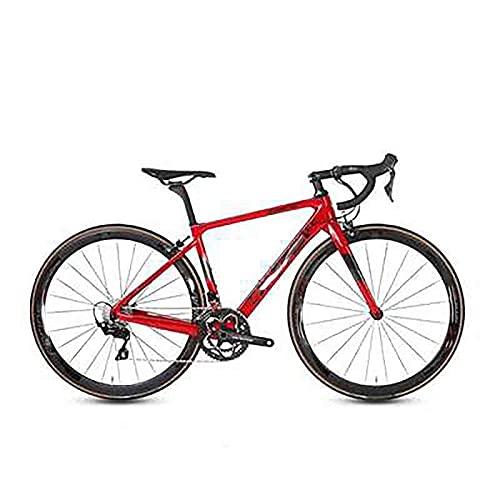 WXXMZY Bici Da Strada In Fibra Di Carbonio, Bici Da Strada In Fibra Di Carbonio 700C, Dotata Di Sistema Di Trasmissione A 22 Velocità E Freni A Disco (Color : E, Size : 450mm)