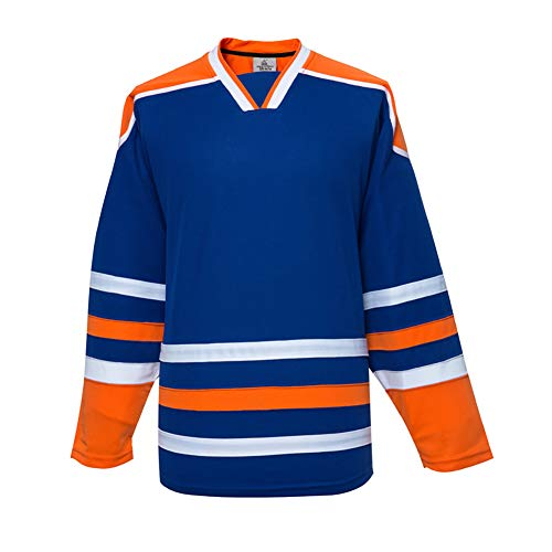 EALER H900-C Series Colors and Blank Ice Hockey League Sports Practice Training Jersey -Men and Women- Adult and Youth-Senior to Junior(Blue,Youth S/M)