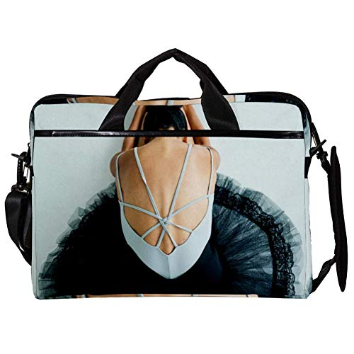TIZORAX Laptop Messenger Shoulder Bags Ballet Dancer Girl Computer Sleeve Notebook Carrying Case 15-15.4 inch Handbag