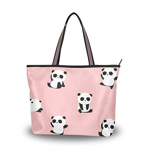 Handbags Shoulder Bags Panda Animal Pattern Print Light Weight Strap for Women Girls Ladies Student Purse...