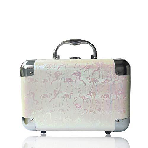 初心者のかわいいジュエリーケース格納ケース、旅行用のスーツケースジュエリーケース、女の子への誕生日プレゼントに最適です (薄いピンク)
