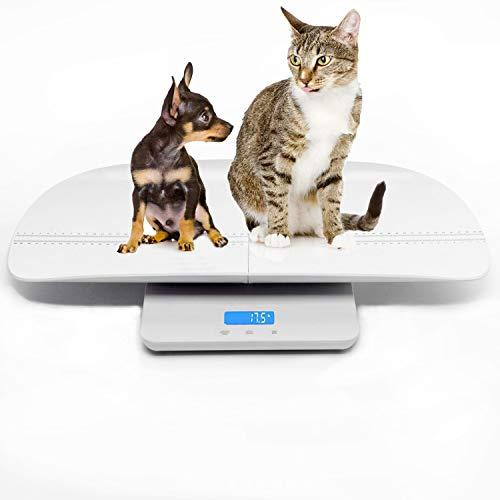 Escala digital multifuncional para mascotas para medir con precisión el peso de perros y gatos, precisión de  10 g, luz de fondo azul, especialmente bueno para controlar mascotas embarazadas y bebés