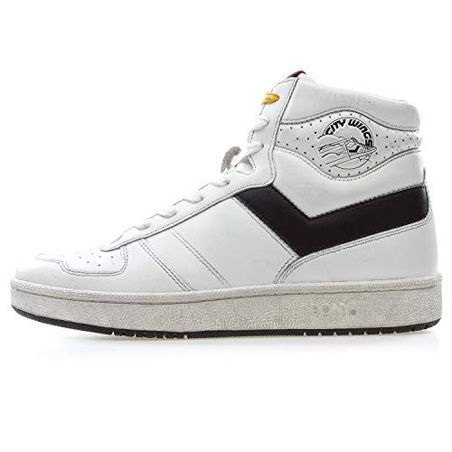 Pony Sneaker Hi-Top Weiß, Weiß - Bianco - Größe: 45 EU