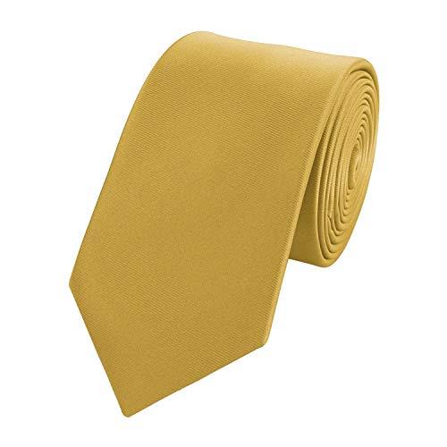 Fabio Farini - Corbata de hombre simple y elegante en tamaños de 6 y 8 cm para elegir Dorado 8 cm