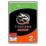Seagate FireCuda Gaming, hybride interne Festplatte 2 TB SSHD, 2.5 Zoll, SATA 6 Gb/s, silber, FFP, Modellnr.: ST2000LXZ01