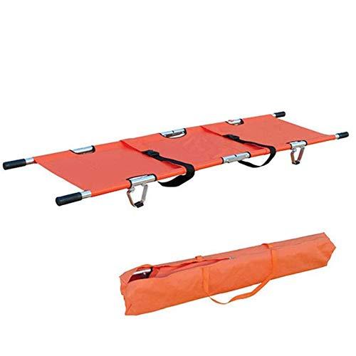 WPY Faltbar Rettungstuch Krankentrage, Aluminiumlegierungs Trage Tragfähigkeit 159 kg Tragbare Erste-Hilfe-Rettungstransport-Bahre für Kliniken, Familien, Sportplätze.