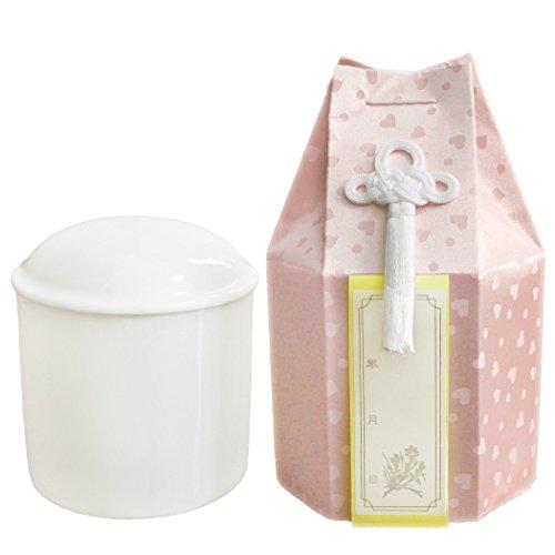 仏具 ペット骨壷 ハート柄 こころ 4寸 ピンク 覆い袋つき 骨壷カバー かわいい骨壷 ろうそく8本入り Cセット