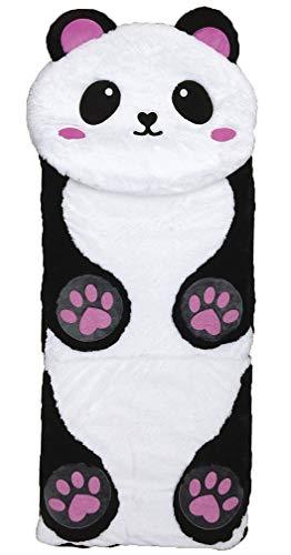 "iscream Furry Panda 73"" x 25"" Faux Sherpa-Lined Plush Fleece Zippered Sleeping Bag thumbnail image"