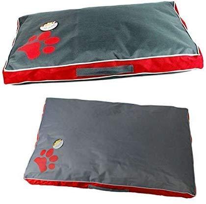 CXHMYC Pet bedDog Bett Kissen für großen Hund Oxford Tuch Welpen atmungsaktiv wasserdicht Hundehaus Pad Pet Nest Sofa Decke Matte für Tiere in Häusern, Zwinger Stifte aus Hausgarten, rot, XL