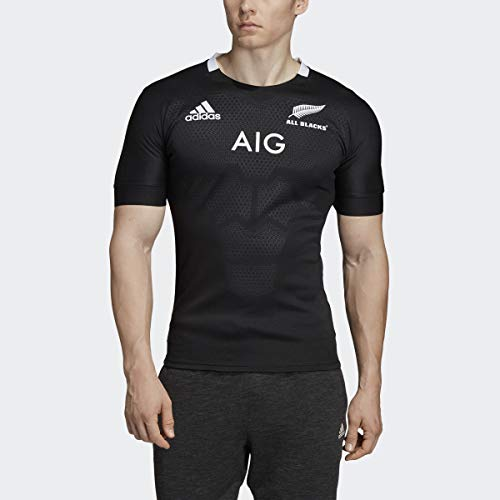 adidas mens All Blacks Home Jersey Black Medium