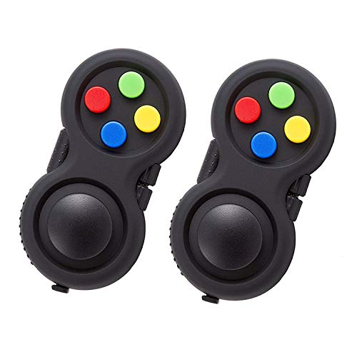 Topways® Fidget Pad Controller, Gamepad Zappeln Spielzeug Stressreduzierer Spielzeug Geschenk Retro Controller (2 Stück)