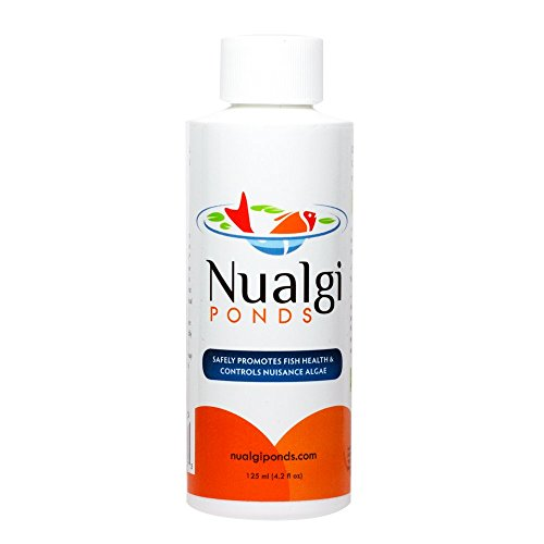 Nualgi Ponds - Natural Algae Control, Water Clarifier & Algaecide Alternate - 100% Safe for All Fish, Plants & Animals (1 x 125ml)