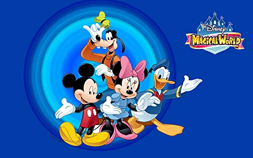 Disney Magical World - Poster di Topolino, 30 x 40 cm, multicolore