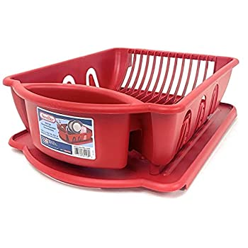 Sterlite red 2pc ultra sink set One Size
