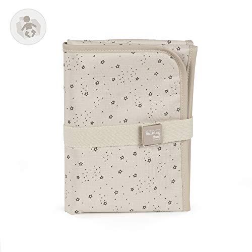 Walking Mum. Cambiador de Bebé Dreamer. Diseño portátil y plegable. Fácil de guardar en el bolso maternal. Color Beige. Medidas 33 X 66 X 1 cm.