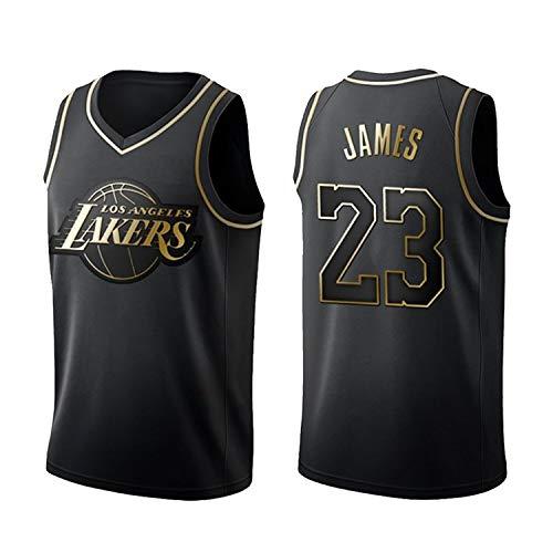 RENDONG James Camisetas De La NBA Lakers # 23 Edición del Swingman Jersey De Deporte Unisex Camiseta Sin Mangas Transpirable,Negro,L