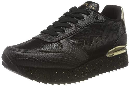 REPLAY Roper Zapatillas para Mujer,Negro ( 003 Negro ) , 37 EU