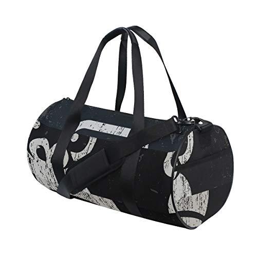Rootti - Bolsa deportiva para gimnasio, diseño de cabeza de gorila con cremallera, bolsa de viaje, bolsa de deporte, bolsa de yoga, impermeable, para hombre, mujer, niño y adulto