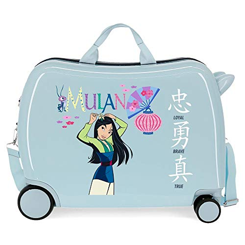 Disney Princess Celebration Suitcase Blue 50 x 38 x 20 cm Rigid ABS Side Combination Closure 34L 3 kg 4 Hand Luggage
