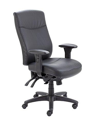 Office Hippo draaistoel bureaustoel, robuust, van leer, ergnomomisch, bariatrisch, 24 uur kantoor 69x69x106 cm Leer