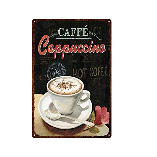 ivAZW Tin Sign Coffee Vintage Metal Plaque Wall Decor Kitchen Bar Cafe Retro Posters Iron Painting 20x30cm 8