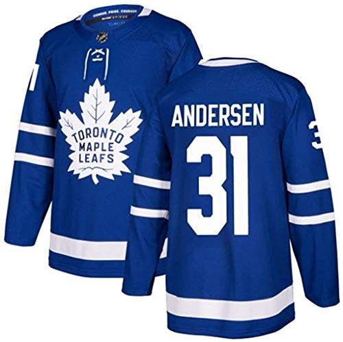 NHL Eishockey Toronto Maple Leafs # 44# 88# 34# 16# 91# 29# 43# 31 , Andersen Jersey Sweatshirts Bequemes und Atmungsaktives Langarmshirt (Color : 31, Size : XXL)