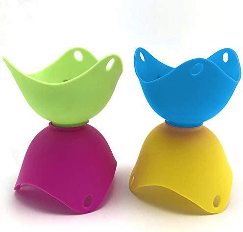 Silicone Poached Egg Cups Non Stick Eggs Poaching Cooker Egg Poachers Food Grade Silicone Poached product image