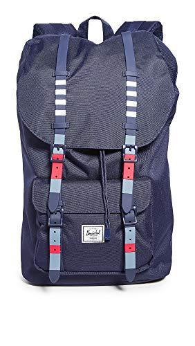 Herschel Supply Co. Men's Little America Backpack, Malibu Stripe Peacoat, One Size