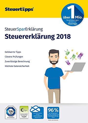 SteuerSparErklärung 2019, Schritt-für-Schritt Steuersoftware für die Steuererklärung 2018, Aktivierungscode per Mail für Windows 10, 8, 7
