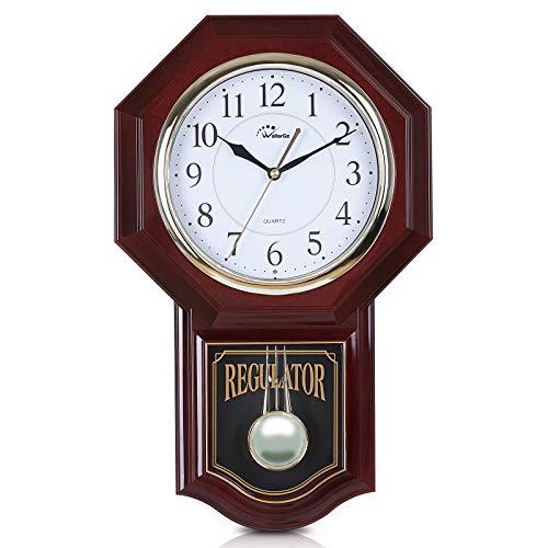 WallarGe Pendulum Wall Clock,Grandfather Wall Clock,19' x...