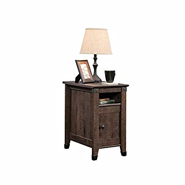 Sauder 420422 Carson Forge Coffee Oak Side Table