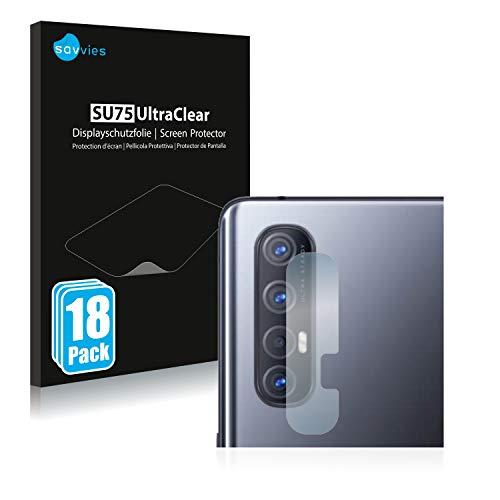 Savvies 18x Schutzfolie kompatibel mit Oppo Find X2 Neo (Kamera) Bildschirmschutz-Folie Ultra-transparent