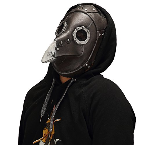 Mo Fang Gong She Halloween Cosplay Steampunk Gothic Retro Plague Beak Doctor Bird Horror Mask