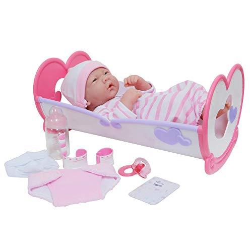 JC Toys LA Newborn 10 Piece Deluxe Rocking Crib Gift Set, Featuring 14