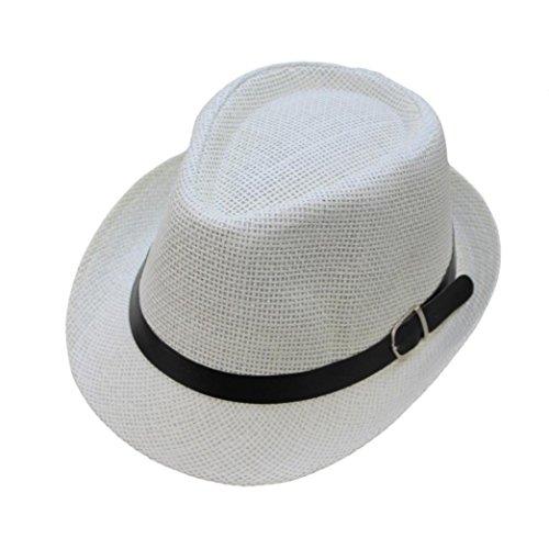 ZARLLE Sombrero De Jazz BritáNico Sombrero De Paja De Sombra De Playa Transpirable Al Aire Libre Ocasional De Los Hombres De Las Mujeres Se Divierte La Gorra De BéIsbol