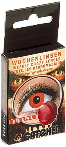 Eyecatcher 84095241-w03 - Farbige Kontaktlinsen, 1 Paar, Wochenlinse, Rot, Karneval, Fasching, Halloween