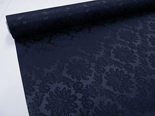 Confección Saymi Metraje 0,50 MTS. Tela Raso Brocado Ref. Colino, Color Negro, con Ancho 2,80 MTS.