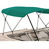 SavvyCraft 4 Bow Bimini Top Boat Cover Teal 4 Bow 96' L 54' H 97'- 103' W W/Boot & Rear Poles