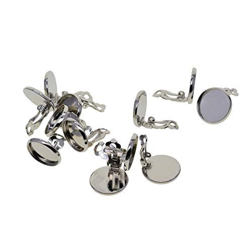 Sharplace 12 Piezas de Moda Ear Clip Ear Cuff Mujeres Wedding Party Jewelry Data Earring - 16mm
