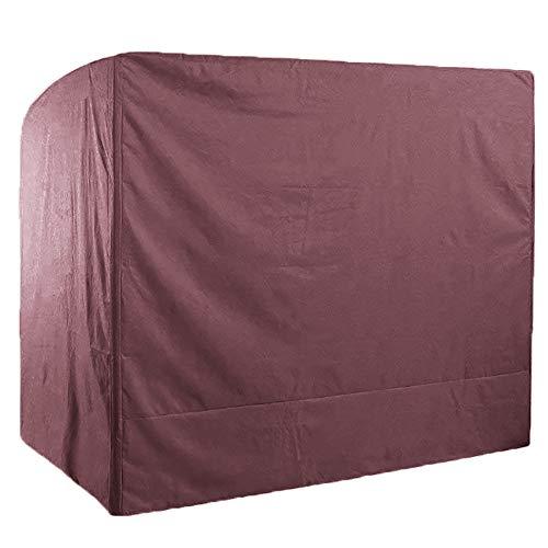 SHGDDYSB Schutzhülle Hollywoodschaukel 3 Sitzer 220 x 125 x 170 cm Abdeckung Gartenmöbel Winterfest Schaukelabdeckung Wasserdicht für rechteckige Sitzgarnituren, Gartentische und Möbelsets (Kaffee)