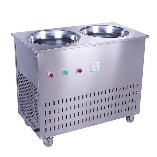 Find Bargain JIAWANSHUN Double Pan Fried Ice Cream Stir Yogurt Fry Ice Roll Making Machine 110V/60HZ...