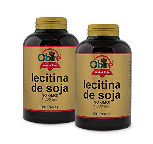 Lecitina de soja 1200 mg. 200 perlas (Pack 2 unid.)