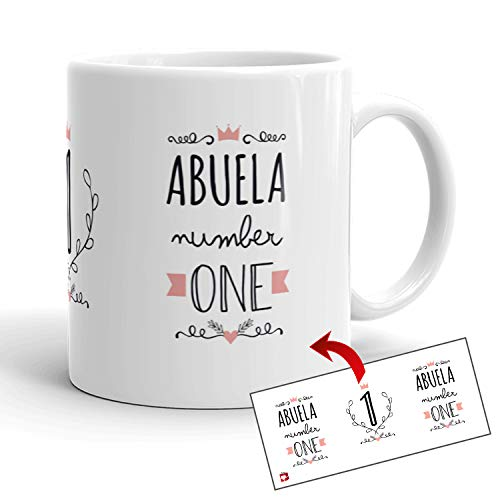 Kembilove Tazas Familiares – Preciosas Tazas para Toda la Familia – Tú Eres La Abuela Número Uno – Magníficas Tazas de Café para Hombres y Mujeres – Regalos Divertidos para Familiares y Amigos