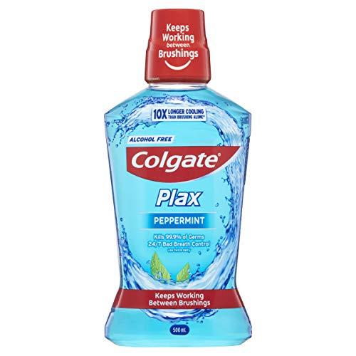 Colgate Plax Antibacterial Mouthwash 500mL, Alcohol Free Bad Breath Control