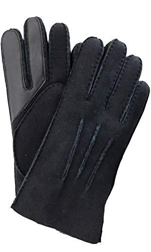 UGG Contrast Water Resistant Sheepskin Tech Gloves Black XL