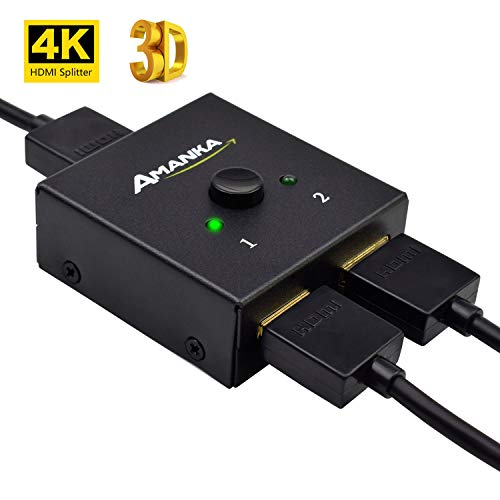 AMANKA Conmutador HDMI 4K Divisor HDMI Bidireccional