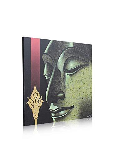 Gemälde eines Buddha Kopfes in Öl gemalt - querformat