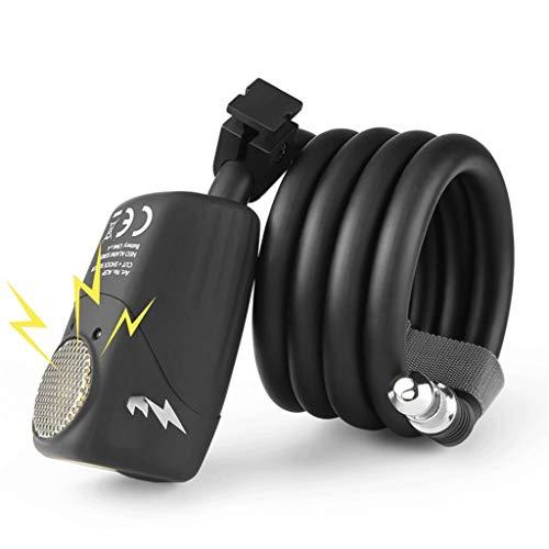 Candado Para Bicicleta Bloqueo de bicicleta 110dB Bicicleta Bicicleta Lock Electronic Lock Ciclismo Bicicleta Cable Cable Bloqueo Anti-Robo Bicicleta Locker Road Bike Caja de alambre Cierre de alambre
